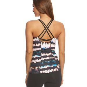 NWT Lucy Let It Be Tank Fire Dance Print